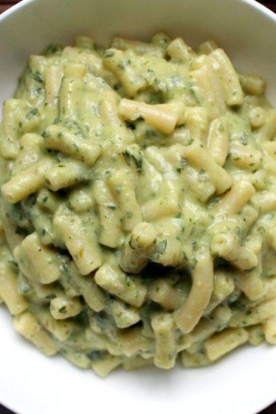 green goddess avocado mac and cheese