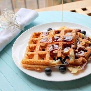 Easiest Vanilla Blueberry Waffles