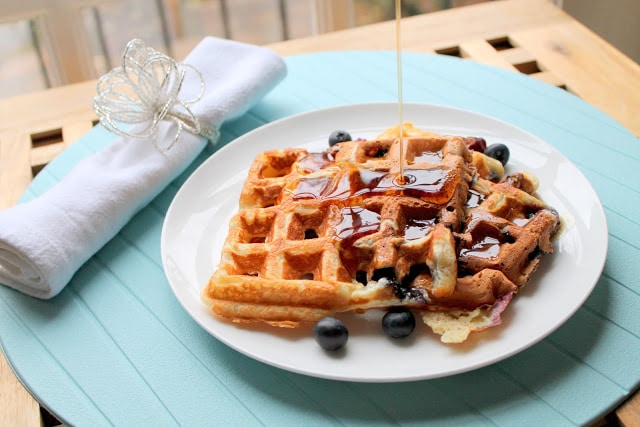 Easiest Blueberry Waffles