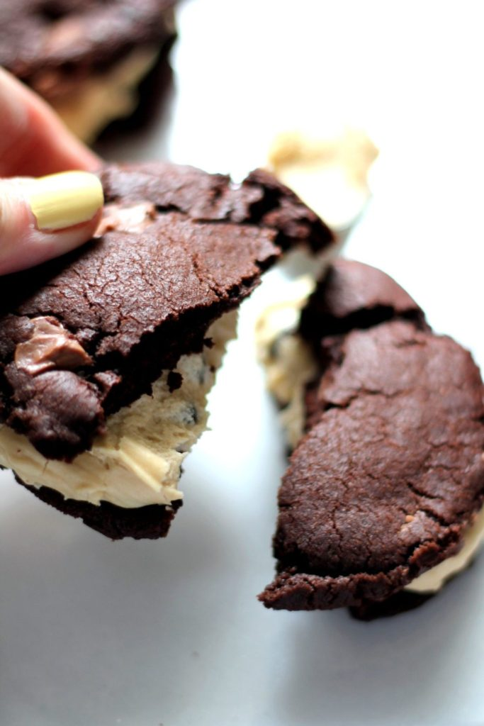 These indulgent cookies are stuffed with cream cheese cookie dough frosting - totally decadent!