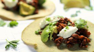 Smoky Lentil & Buffalo Mozzarella Tacos