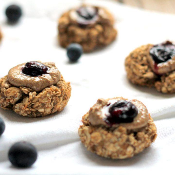 Banana & Peanut Butter Breakfast Thumbprint Cookies for Babies