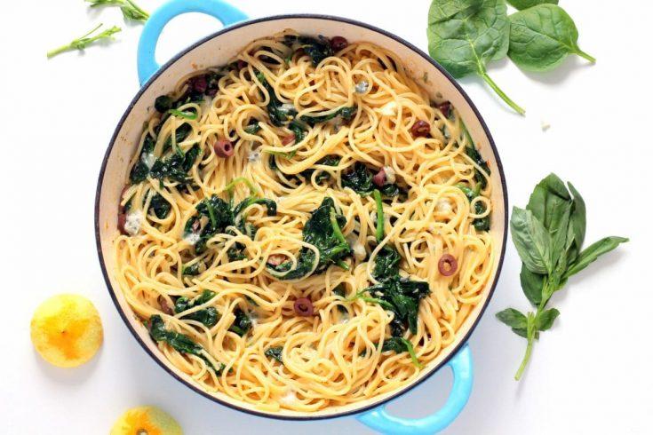 Lemon, Gorgonzola & Spinach Pasta