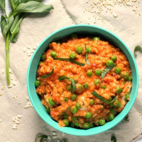 Creamy Tomato & Mozzarella Quinoa Risotto {for Babies & Toddlers}