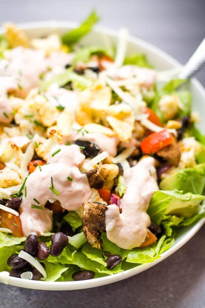 Roasted Veggie Taco Salad Happy Veggie Kitchen