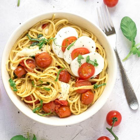 Simple Spaghetti Caprese