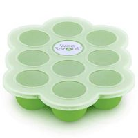Silicone Baby Food Freezer Tray with Clip-on Lid