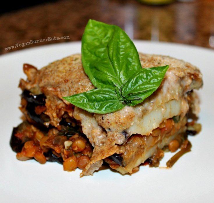 Delicious Vegan Moussaka with Lentil-Tomato Sauce
