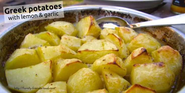 Greek Potatoes with Lemon & Garlic