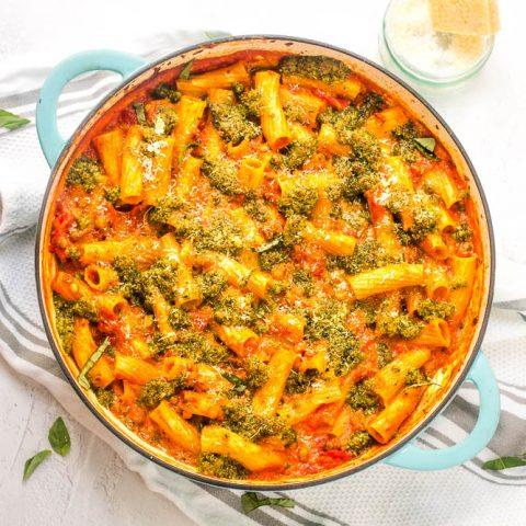 Tortiglioni Lentil Pasta Bake (No Boil)