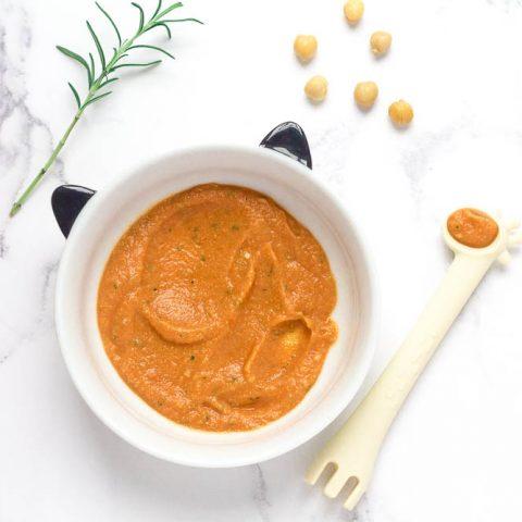 Chickpea, Roasted Tomato & Rosemary Baby Food Puree
